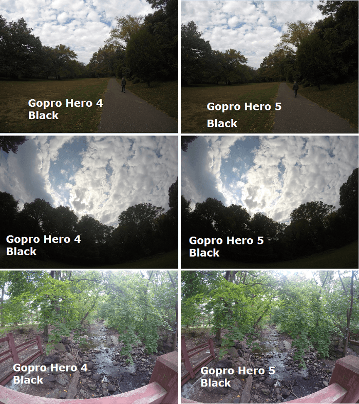 gopro hero 4 black vs hero 5 black photo comparison