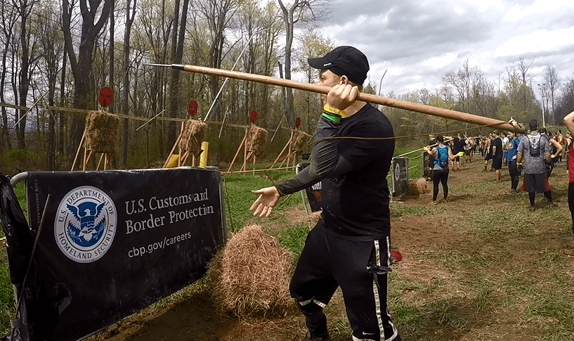 how to throw a spear for the spartan race